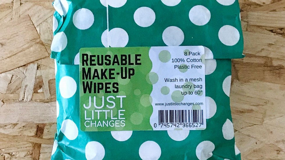 Reusable Face Wipes (pack of 8)