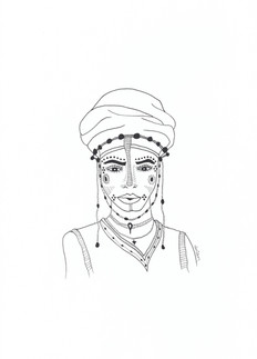 Woman with Decorative Elements