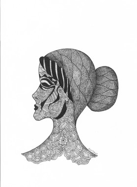 Woman in Profile View