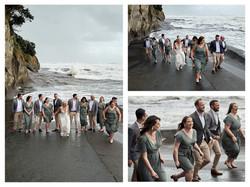 Muriwai beach wedding