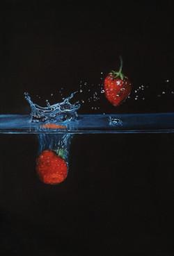 Une fraise tombe !