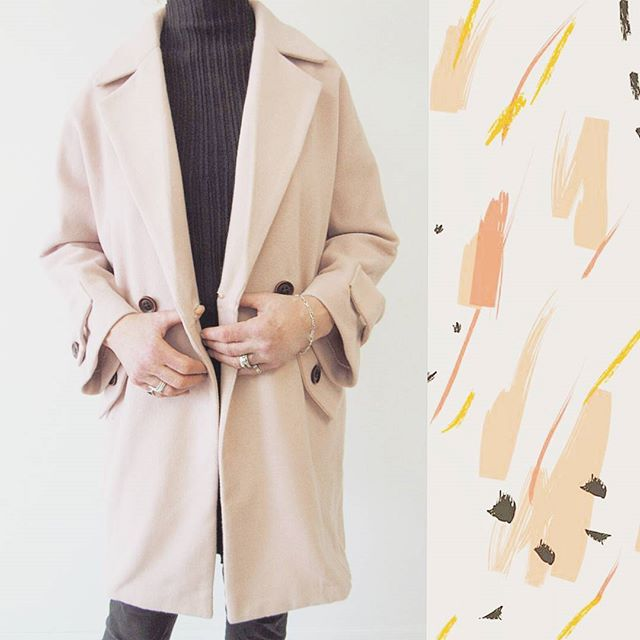 Blush tones for all seasons! 💕💕 This  lightweight pea coat is now on sale for $65! #sale #peacoatp