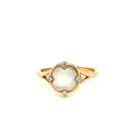 White Mother of Pearl and Diamond ring