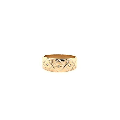 Estate men's engraved ring