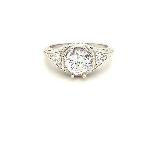 Filigree style Semi mount  Ring