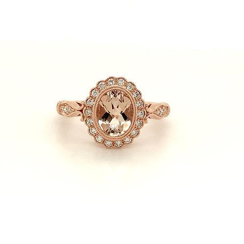 Morganite and Diamond Ring
