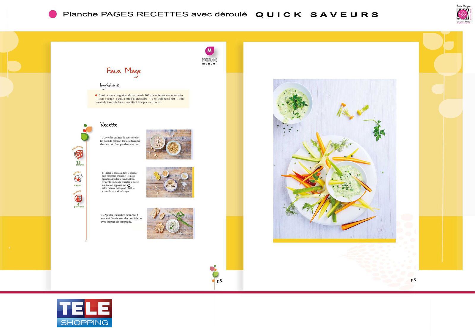 page recette teleshopping