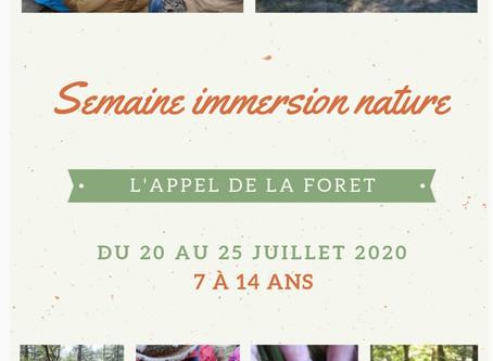 Séjour en nature du 20 au 25 Juillet 2020