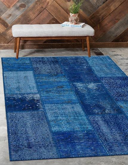 Patchwork Halı (Mavi)