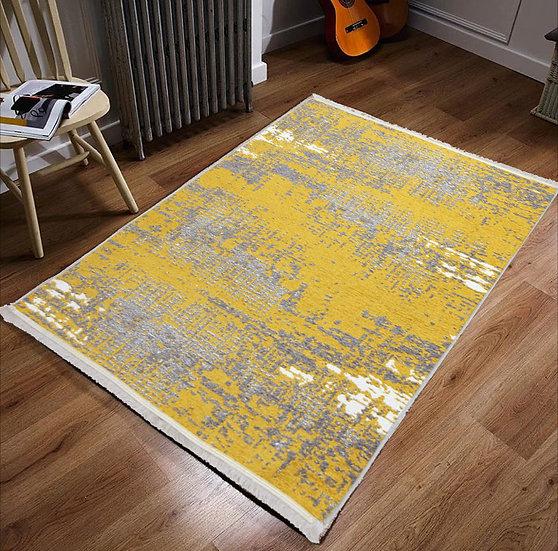 Noa Kilim 01 (Sarı-Gri)