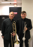 Wyeth Aleksei with Joseph Alessi after a performance of Overture to Candide