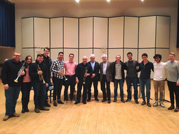 Juilliard trumpet studio after a master class with Principal Trumpet of the Cleveland Orchestra, Michael Sachs