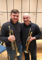 Wyeth Aleksei with Principal Trumpet of the Cleveland Orchestra, Michael Sachs