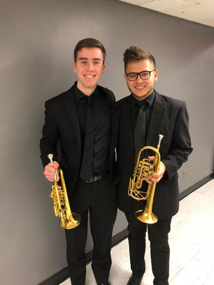 Wyeth Aleksei and Ben Keating after an Opera Performance at Peter J. Sharpp Theater