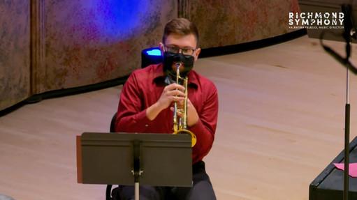 Wyeth at Richmond Symphony Orchestra's holiday brass concert