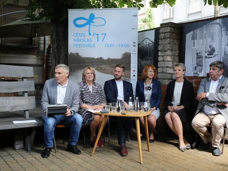 Preses konferences FOTO: Tikai nedēļa līdz vienpadsmitajam Cēsu Mākslas festivālam