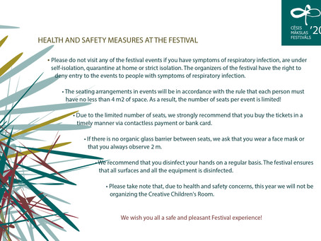 HEALTH AND SAFETY MEASURES AT THE FESTIVAL
