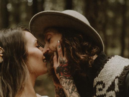 Adventurous Lovers in the pnw woods