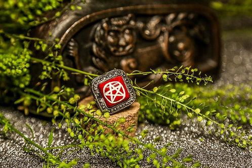 Кольцо с пентаграммой для защиты