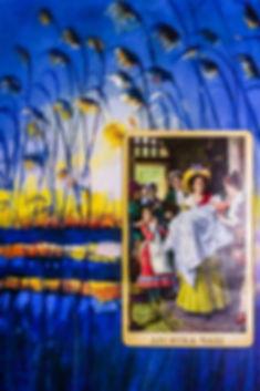 Погадайте бесплатно онлайн, выберите карту и получите бесплатный совет карт Таро на сегодня от таролога Алёны Панфиловой. Карта Дня Десятка Чаш. Вытащите одну карту из колоды Таро. Погадайте на одну карту Таро онлайн. Карта Таро  расшифровка и толкование. Бесплатное гадание в Таро Кафе - Карта Дня.