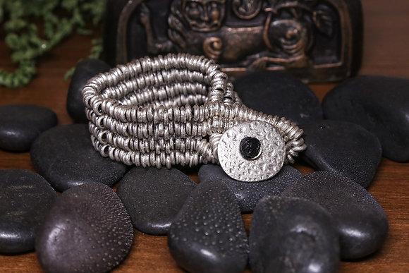 Массивный браслет, покрытый серебром