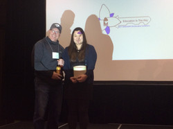 A prize winner with Joyce Tseng of BFL_2