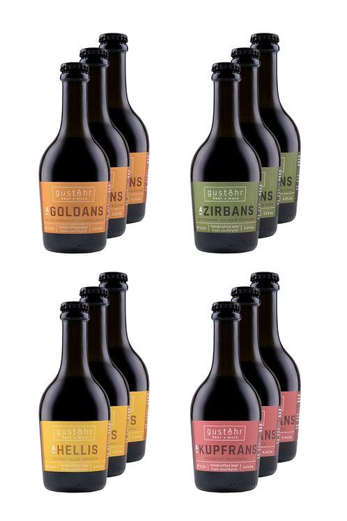 gustAhr BEER BOX - 12 x 0,33l Flaschen