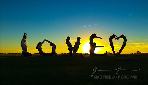 group silhouette with BFFs