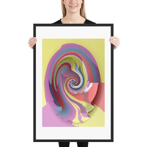 Digital Paint Spill - Framed poster