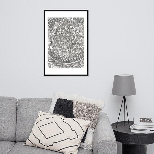 Living Mandala - Framed poster
