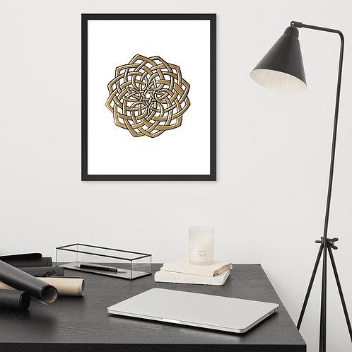 Hand-drawn Celtic Knot Mandala - Framed poster