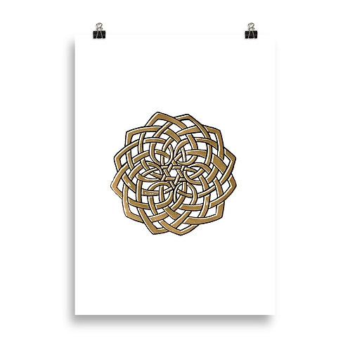 Celtic Knot Mandala Poster