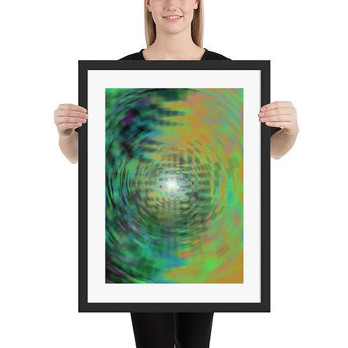 Psychedelic Inner Light - Framed poster