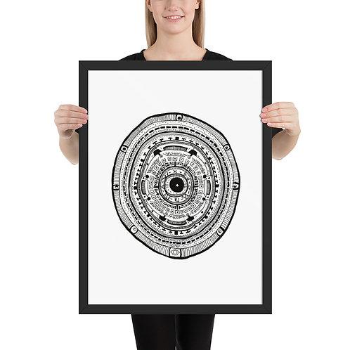 Eye of the Storm - Framed poster