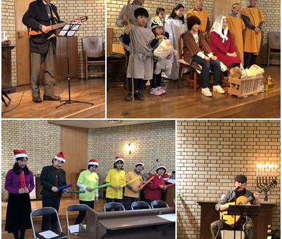 2018クリスマス礼拝・祝会そして燭火礼拝
