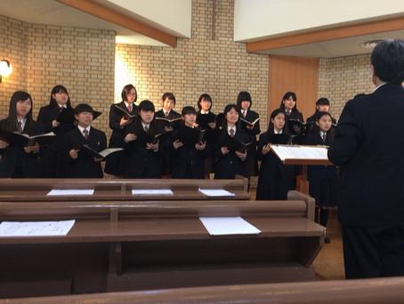 5月14日「母の日」礼拝~近江兄弟社高校合唱部を迎えて~