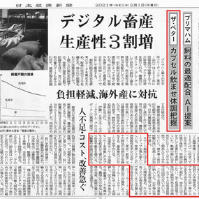 日経新聞に掲載