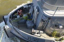 Oh buoy! Soldiers anchor vessel for hurricane season