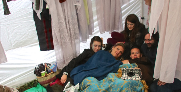 A Mid-Summer Nights Dream -Back Stage - rainy day cuddle puddle
