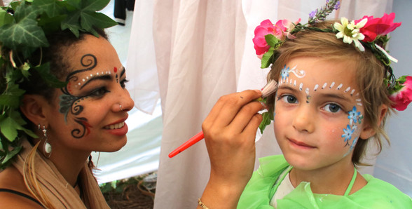 A Mid-Summer Nights Dream -Back Stage - Fairy magic for our youngest fairy
