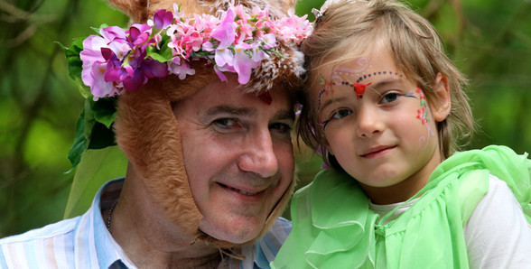 A Mid-Summer Nights Dream -Back Stage - The donkey and the youngest fairy