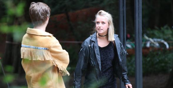 A Mid-Summer Nights Dream - Lysander (Brendan Elwell) falls for Helena (Hannah Pearson)