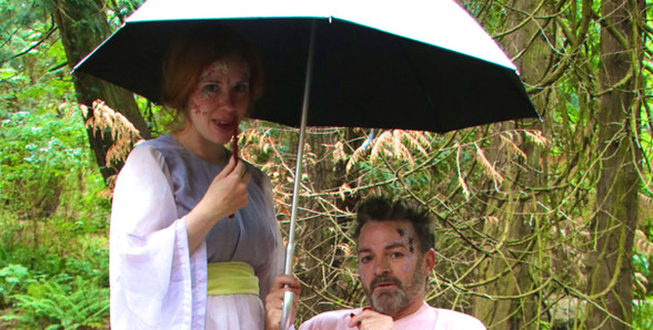 A Mid-Summer Nights Dream -Back Stage - Fairies chilling in the rain (Megan Colgan & Ross Hughes)