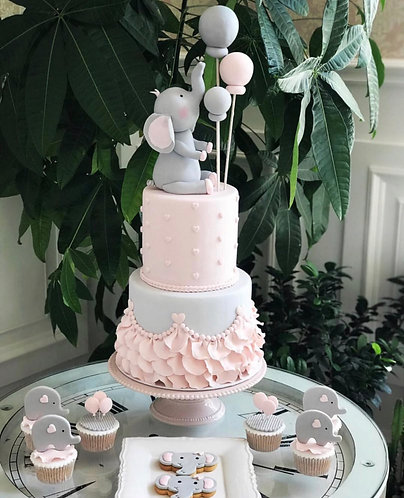 Custom cake, cookies and cupcakes