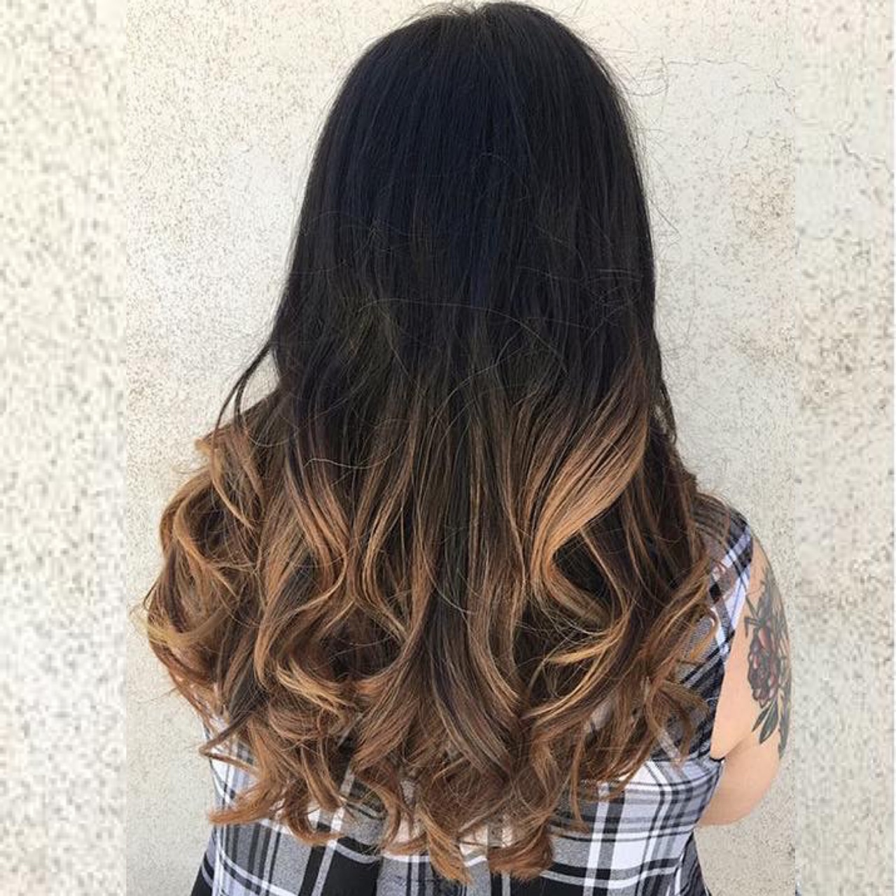 Ombre & Long Layered Haircut.