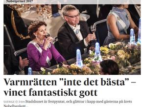 Prensa; Formiga de vellut en la cena de los Nobel