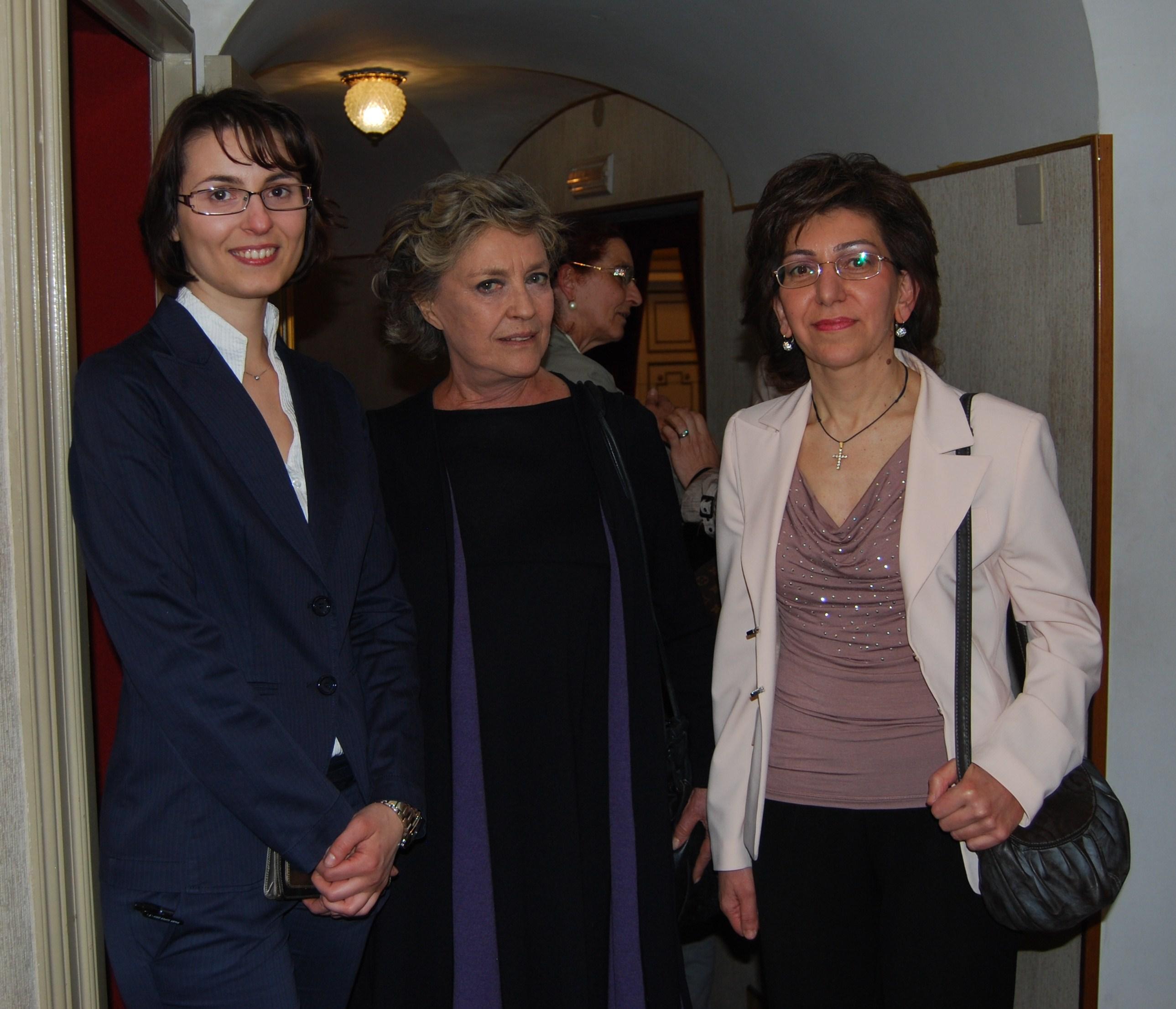 Con Ilaria Occhini