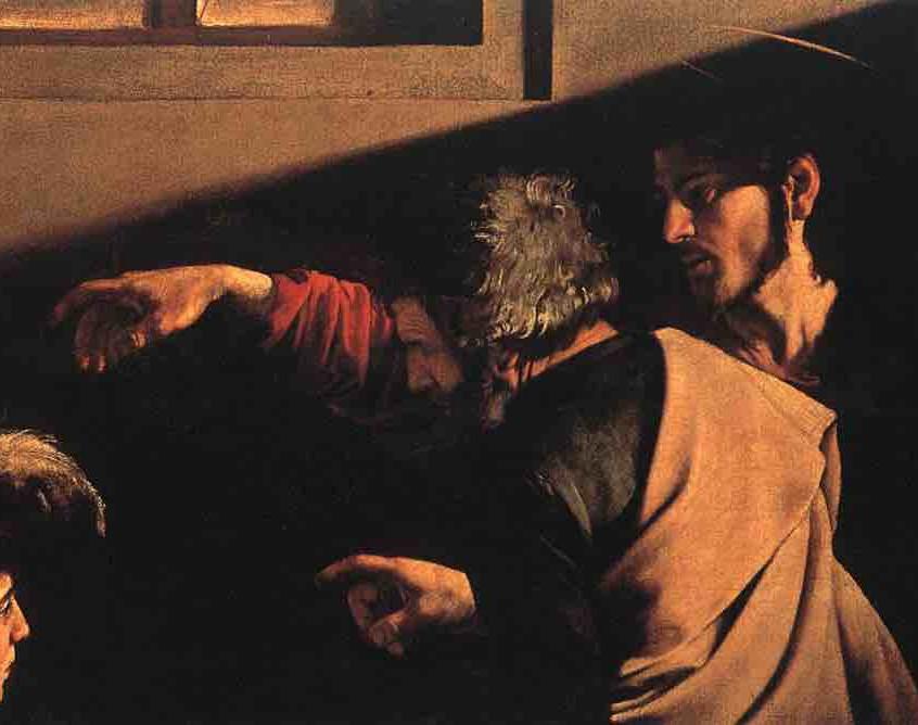 """Caravaggio fa una citazione dell'opera di Michelangelo inserendo lo stesso braccio della """"Creazione di Adamo"""""""