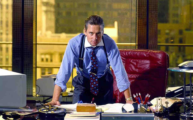 """Gordon Gekko è il protagonista di """"Wall Street"""", film diretto da Oliver Stone nel 1987"""