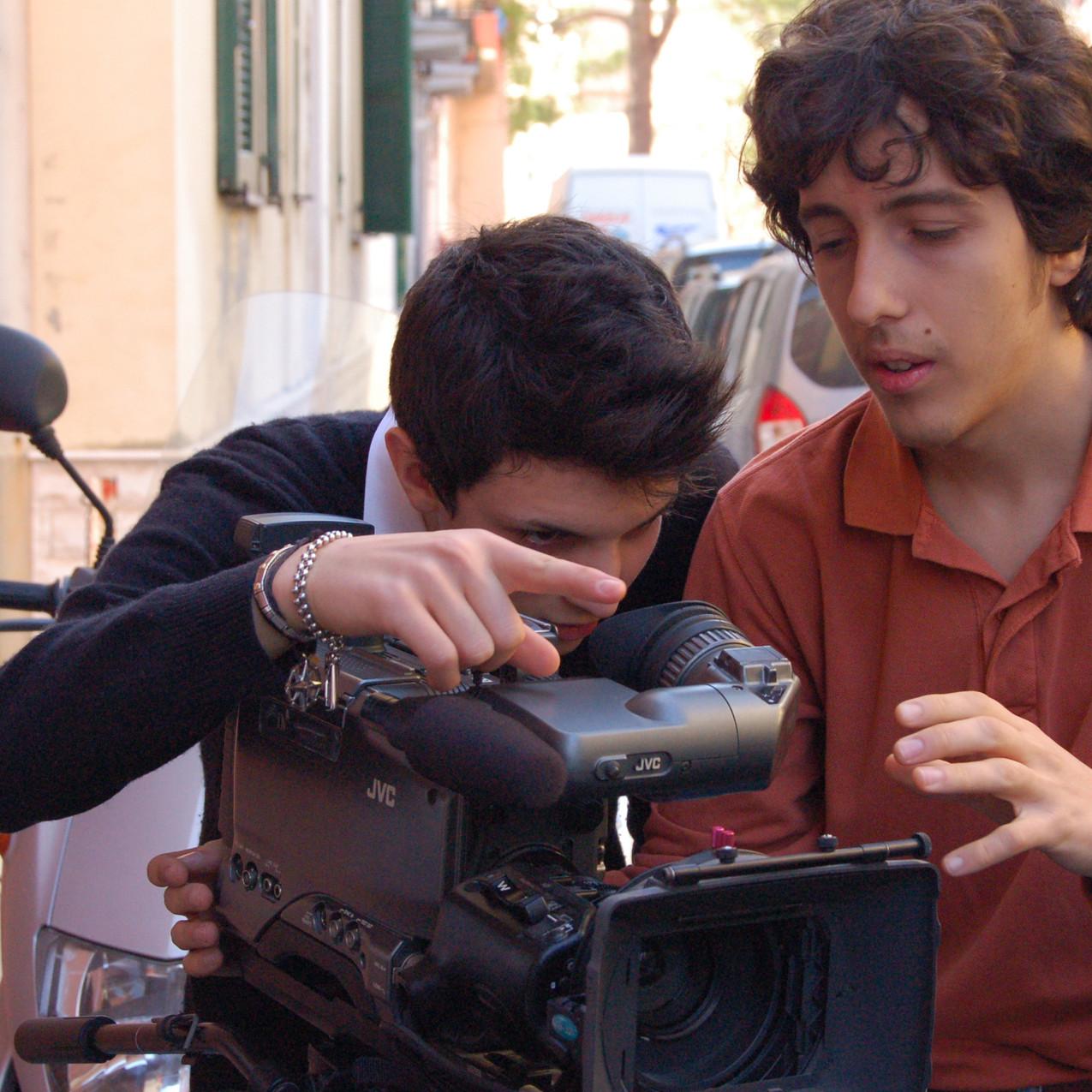 Giacomo Ferrara e il suo compagno Castellitto